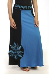 jupe courte évasée avec imprimés originaux mandalas mauve Arana 291322