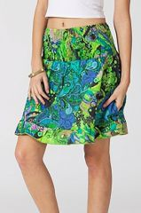 Jupe courte femme pas cher à porter été coloré Claywe 315175