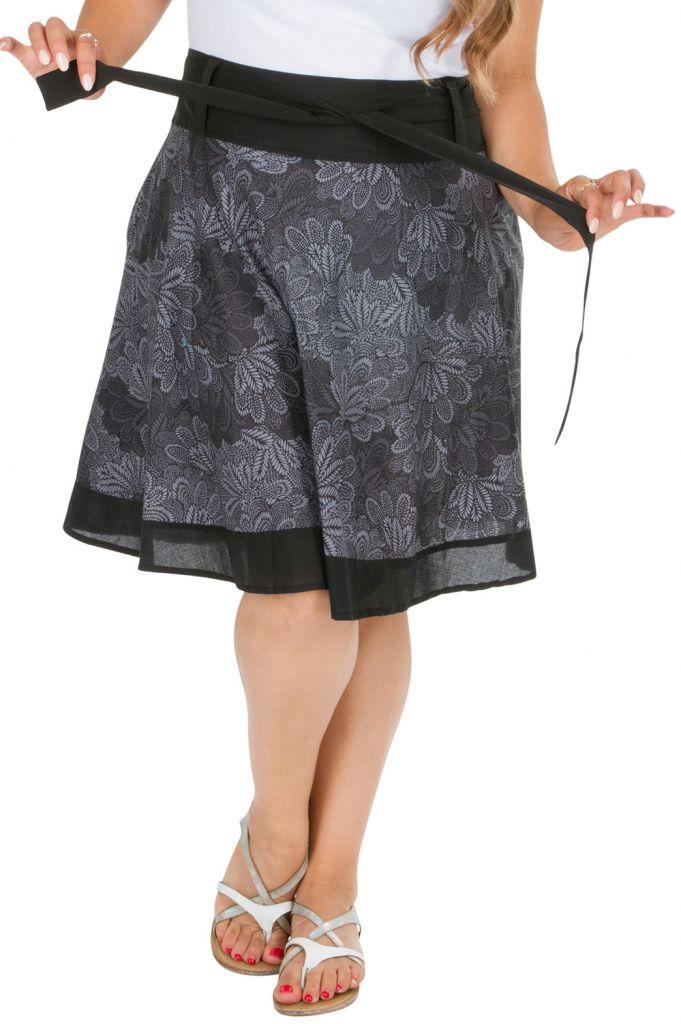 Jupe courte imprimée en coton femme grande taille Luz 309347