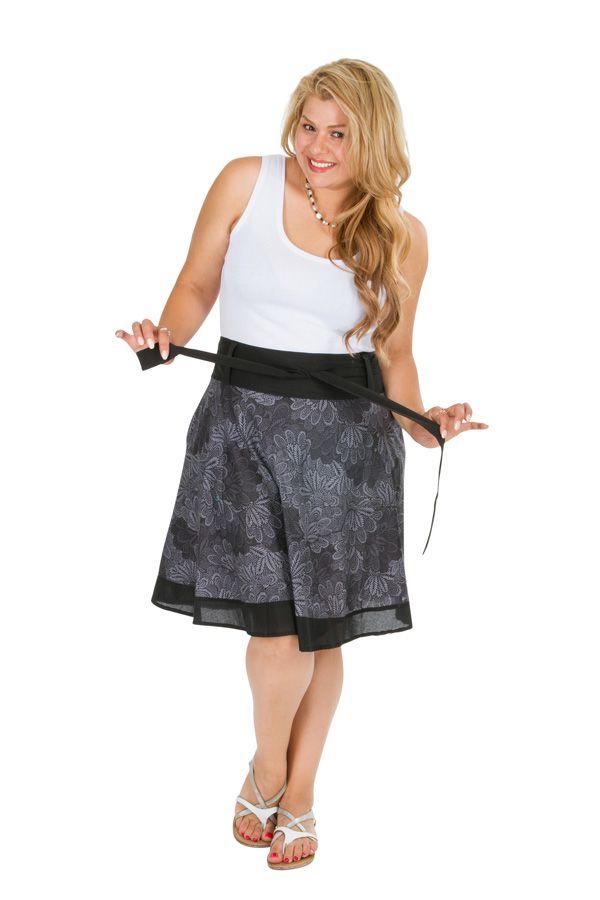Jupe courte imprimée en coton femme grande taille Luz 309348
