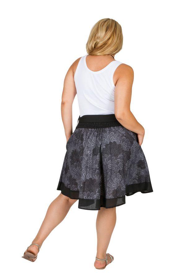 Jupe courte imprimée en coton femme grande taille Luz 309349