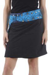 Jupe courte noire portefeuille réglable et originale Néva 310442