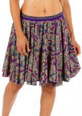 Jupe courte plissée avec un imprimé bohème tendance Nina 305831