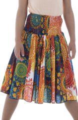 Jupe d'été avec smocks à la taille et imprimés fantaisies Jasmine 294079