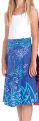 Jupe d'été pour Fillette Ethnique et Colorée Kalina Bleue 279739