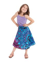 Jupe d'été pour Fillette Mandala Bleue Colorée et Ethnique Kalina 279742