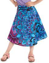 Jupe d'été pour Fillette Mandala Bleue Colorée et Ethnique Kalina 279743