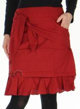 Jupe d'hiver très Originale et Imprimée Marange Rouge 278761