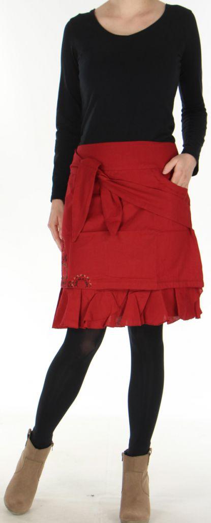Jupe d'hiver très Originale et Imprimée Marange Rouge 278762