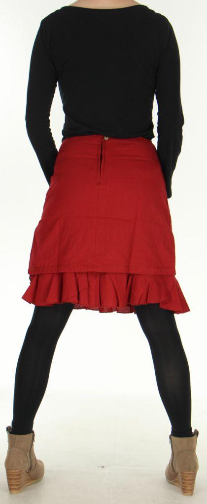Jupe d'hiver très Originale et Imprimée Marange Rouge 278763