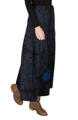 Jupe d'hivers longue Bleue à jolis motifs originaux Quilla 298383
