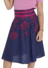 Jupe élégante pour enfant avec imprimés et smocks au dos Sélénia 294064