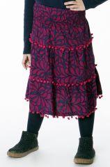 Jupe Enfant Imprimée et Colorée avec Pompons Rhoda 286944