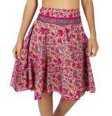Jupe été pour femme ample et fleurie style bohème Leila 316012