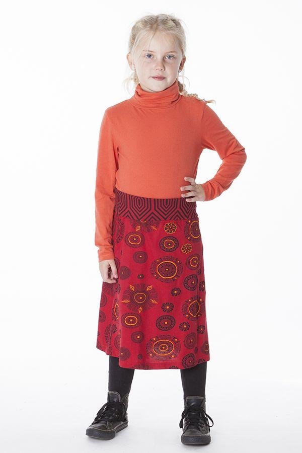 Jupe ethnique pour petite Fille Imprimé et Coloré Wivine 286089