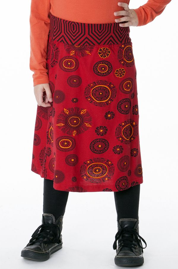 Jupe ethnique pour petite Fille Imprimé et Coloré Wivine 287134