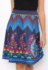 Jupe fantaisie bleue colorée et originale Sabrina 304463
