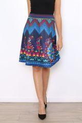 Jupe fantaisie bleue colorée et originale Sabrina 304464