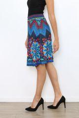 Jupe fantaisie bleue colorée et originale Sabrina 304465