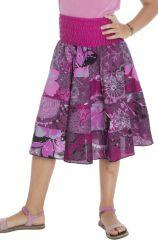 Jupe fantaisie d'été en coton avec un smocks à la taille Jane 294097