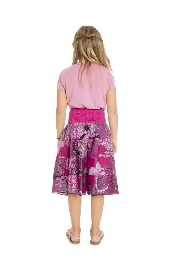 Jupe fantaisie d'été en coton avec un smocks à la taille Jane 294099