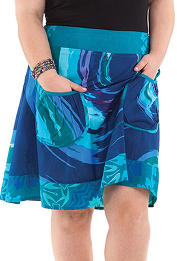 Jupe femme ronde originale bleue Fatoumata 281725