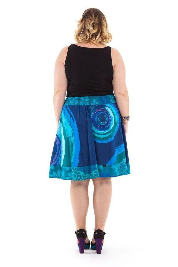 Jupe femme ronde originale bleue Fatoumata 281727