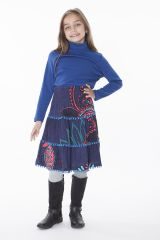Jupe Fillette Collection Hiver avec Pompons Phyllis 286138