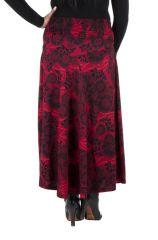 Jupe grande taille hivers longue Rouge originale et ethnique Niala 298401