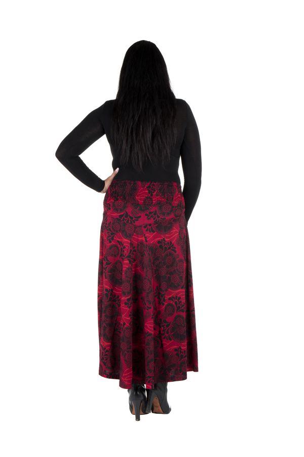 Jupe grande taille hivers longue Rouge originale et ethnique Niala 298402