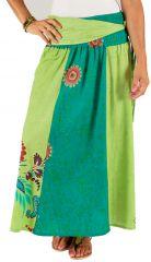 Jupe longue 2en1 transformable en robe Bleue et Verte Tendance Lilliam 285983
