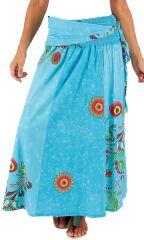 Jupe longue 2en1 transformable en robe bustier Bleue Originale Gypsie 285985