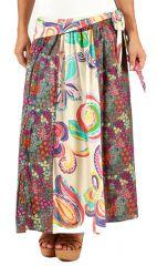Jupe longue 2en1 transformable en Robe Bustier Colorée et Imprimée Meilim 286005