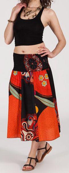 Jupe longue 2en1 transformable en robe-bustier Sarani n4 271398