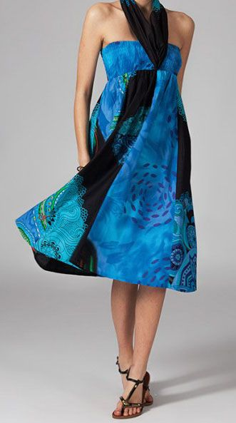 Jupe longue 2en1 transformable en robe ethnique Aina 269242