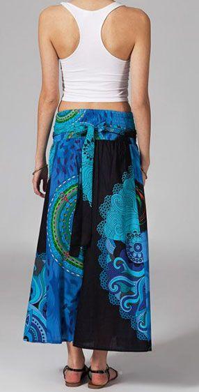 Jupe longue 2en1 transformable en robe ethnique Aina 269248