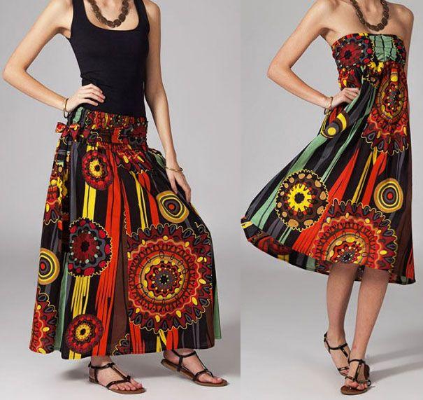 Jupe longue 2en1 transformable en robe Flavie 269299