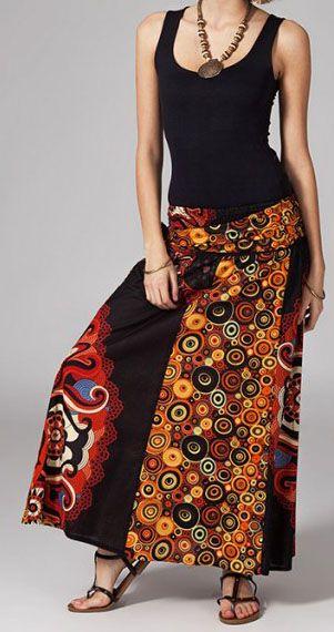 Jupe longue 2en1 transformable en robe originale Avy 269259