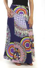 Jupe longue agréable à porter avec imprimé floral et mandalas Adria 291343