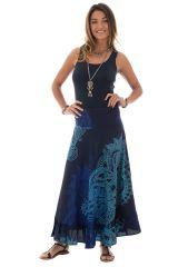 jupe longue avec motifs originaux bleus Malaya 289226