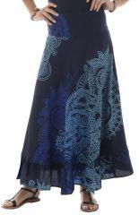 jupe longue avec motifs originaux bleus Malaya 291867