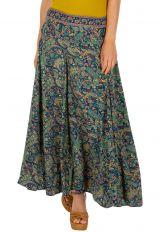 Jupe longue avec un imprimé baroque coloré original pour femme Nolip 305856