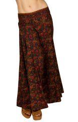 Jupe longue bohème avec un imprimé baroque chic et ethnique Néma