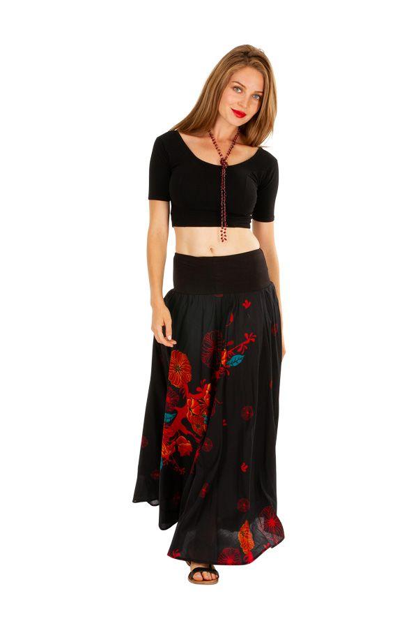 Jupe longue bohème avec un joli imprimé à fleurs Danielle 305643