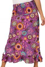 Jupe longue colorée et imprimée Violette Nohailla 286001