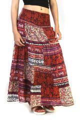 Jupe longue d'été Originale et Imprimée couleur Rouge Smaila 291326