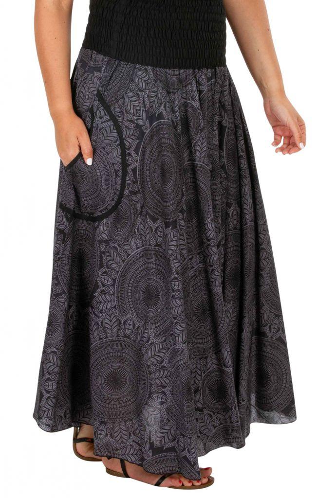 Jupe longue d'été originale look bohème grande taille Bella 308525