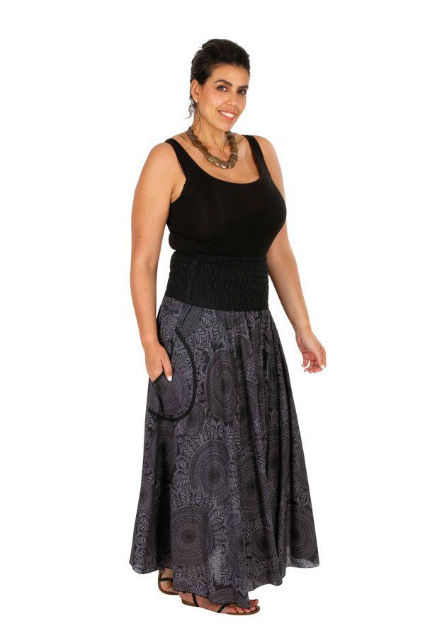 Jupe longue d'été originale look bohème grande taille Bella 308526
