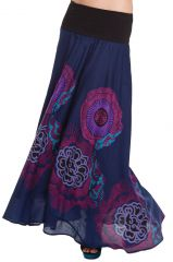 Jupe longue d'été Rashna Originale et Imprimée Violette 280716
