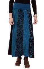 Jupe longue d'hiver pour Femme Ethnique Andala Bleue 286673